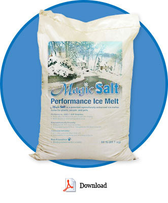 Magic Salt is the only EPA approved deicer on the market! Safe for the environment and cost effective!