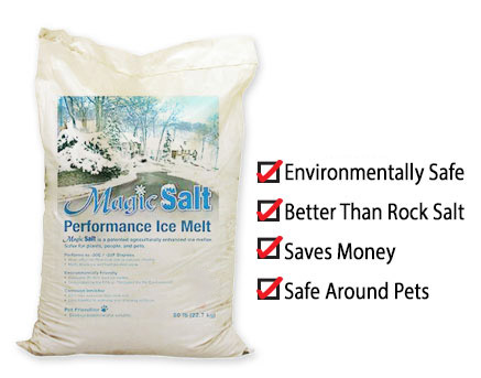 The effects of Magic Salt can benefit your winter snow removal in nearly every way!