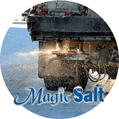 Magic Salt is the most effective method to melt ice and snow with minimal environmental damage.